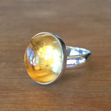 Citrine and Silver Ring