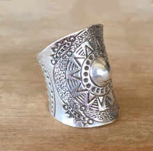 Tribe Mandala Silver Ring