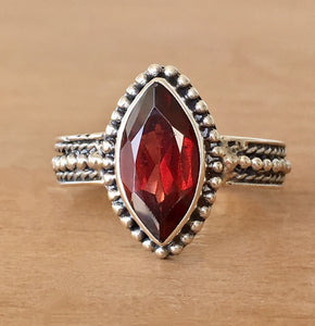 Scarlet Garnet Stacking Ring