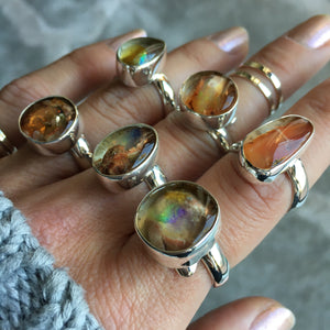 Opal and Silver Ring
