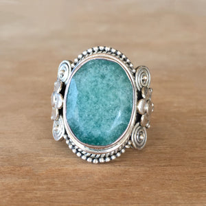 Emerald and Silver Ring