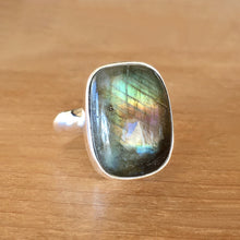Labradorite and Silver Ring