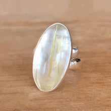 Rutilated Quartz and Silver Ring