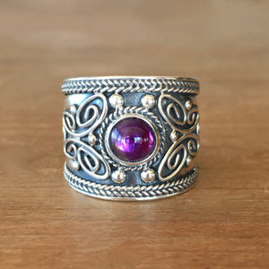 Wild Side Amethyst Ring