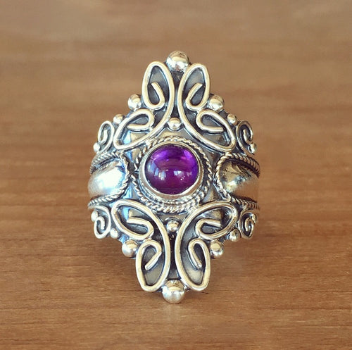 Majestic Amethyst Ring