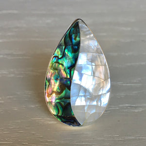 Abalone and Mother of Pearl Ring