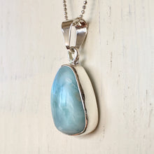 Larimar and Silver Pendant
