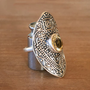 Manifest Citrine and Silver Ring