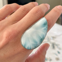 Larimar and Silver Ring