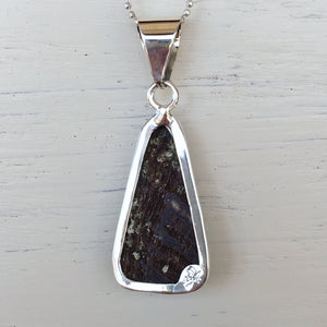 Abalone and Silver Pendant
