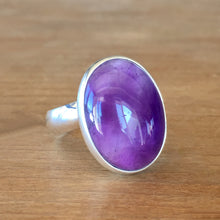 Amethyst and Silver Ring