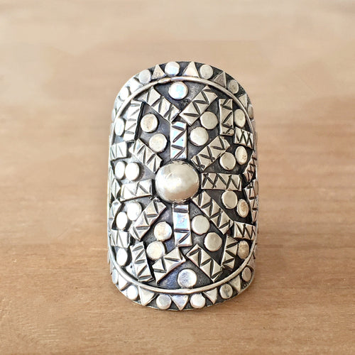 Ethnic Mandala Ring