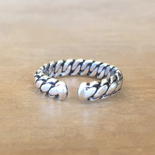 Braided Silver Midi Ring
