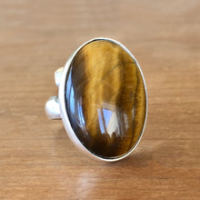 Tigers Eye and Silver Ring