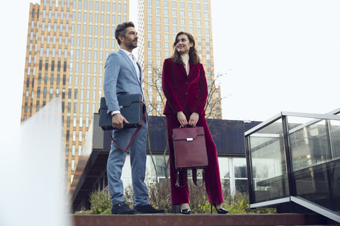 Man and Woman with bag