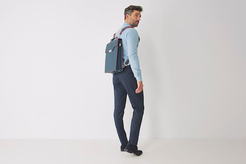 Man with bagpack