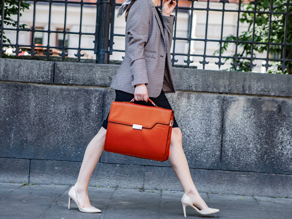 Dutch Orange Briefcase | Evan Red Luxurious Leather Bags For Work
