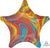 Anagram Mylar & Foil Marblez™ Colorful Star 18″ Balloon