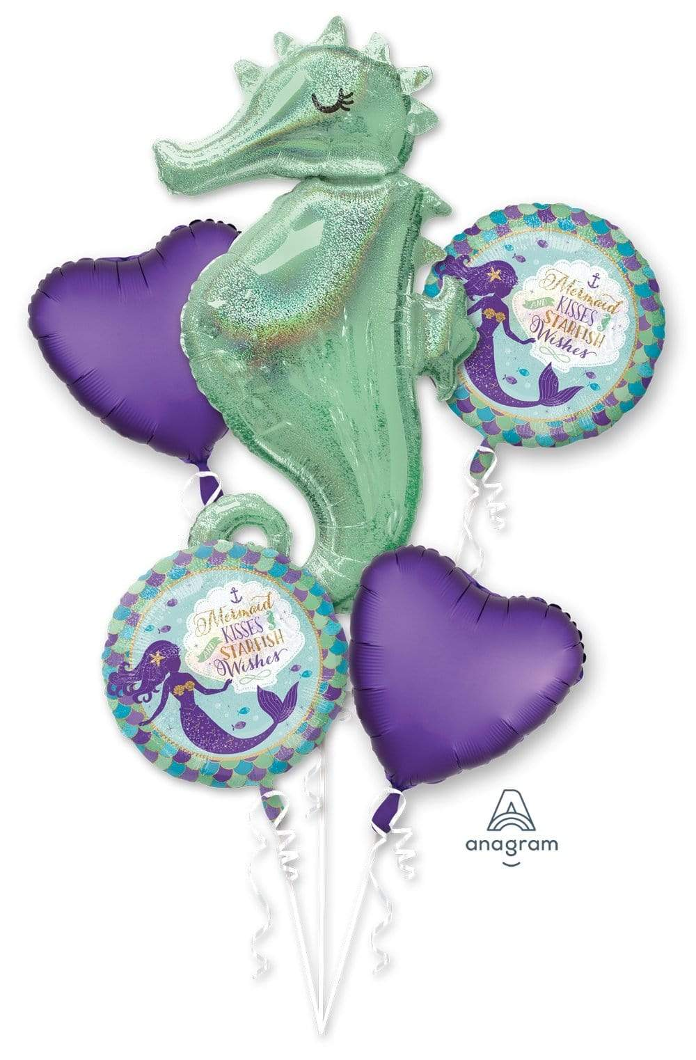 Mermaid Wishes Seahorse Balloon Bouquet Instaballoons
