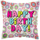 Bright Circles Birthday 18″ Clear View Balloon