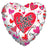 Convergram I Love You Connected Hearts 18″ Clear View Balloon