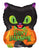 Convergram Mylar & Foil Halloween Cat & Pumpkin 18″ Balloon
