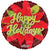 Convergram Mylar & Foil Happy Holidays Poinsettia 18″ Holographic Balloon