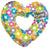 Convergram Mylar & Foil Happy Mother's Day Groovy Flowers Heart 36″ Balloon