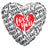 Convergram Mylar & Foil I Love You Today Tomorrow Forever 36″ Balloon