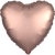 Convergram Mylar & Foil Rose Copper Heart Matte 18″ Balloon
