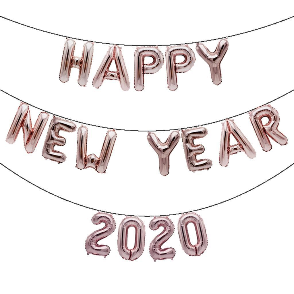PRETYZOOM 2021 Balloons Set Aluminum Foil Number Balloons 2021 Graduation Balloon 2021 New Year Eve Christmas Balloon Banner Decoration for Party Decor Rose Gold 32 Inch