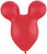 Qualatex Latex Ruby Red Mousehead 15″ Latex Balloons (50 count)