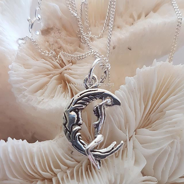 Moon and Goddess Necklace