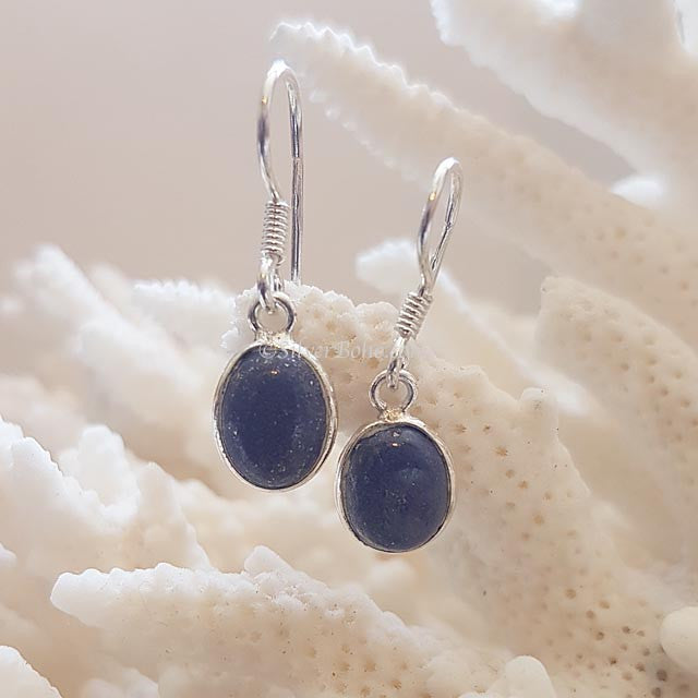 Oval Lapis Earrings