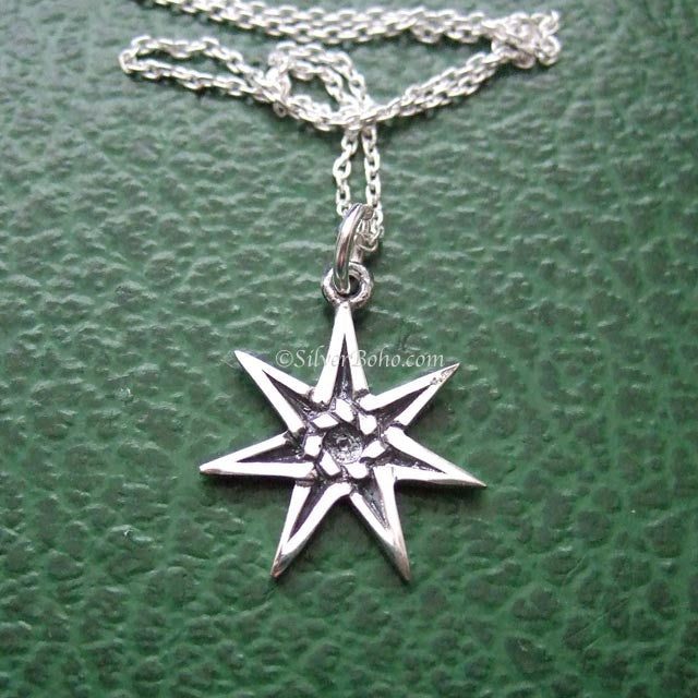 Faerie Elfin Pentagram Protection Necklace