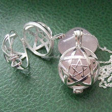 Crystal Pentagram Locket Necklace **QUICK - 2 LEFT!**