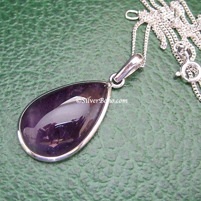 Amethyst Necklace - Teardrop