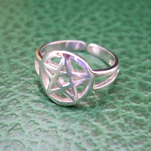 Pentagram Midi or Toe Ring