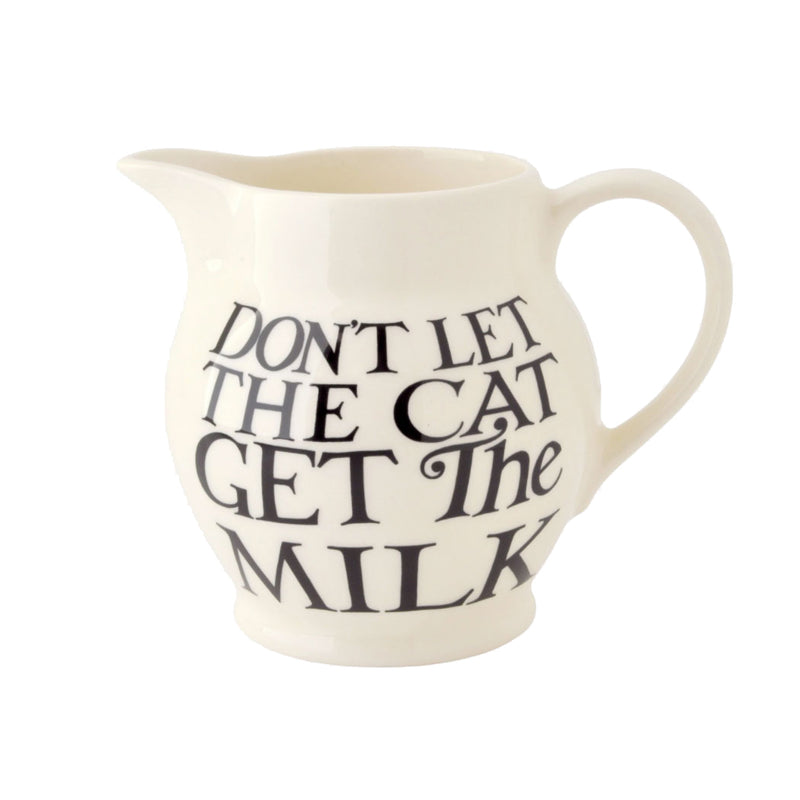 Black Toast All Over Half Pint Milk Jug by Emma Bridgewater