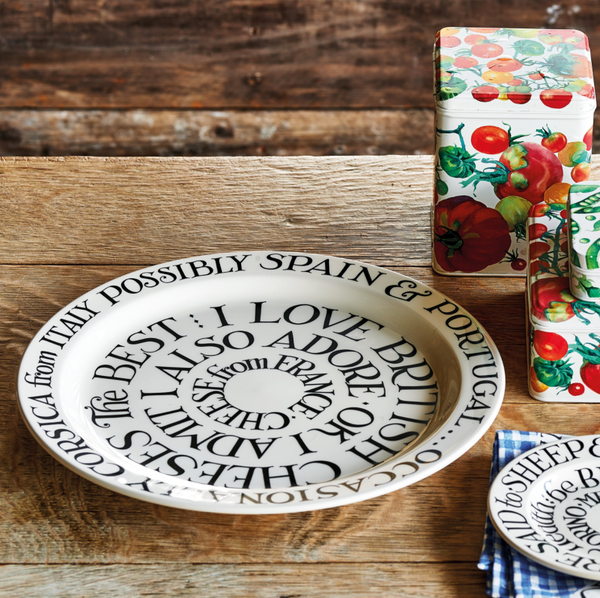 Black Toast Large Cheese Plate by Emma Bridgewater