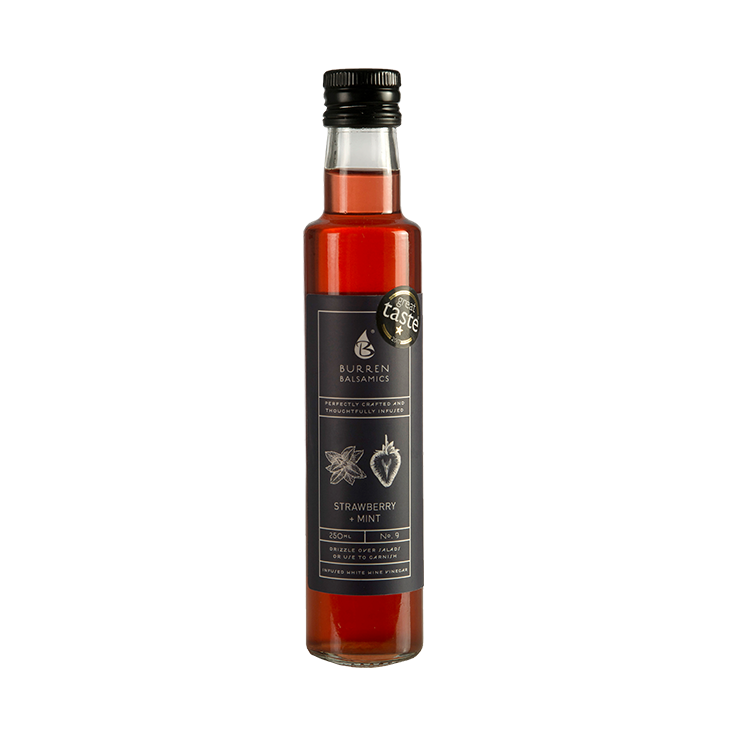 Burren Strawberry & Mint Infused Balsamic Vinegar - 250 ml