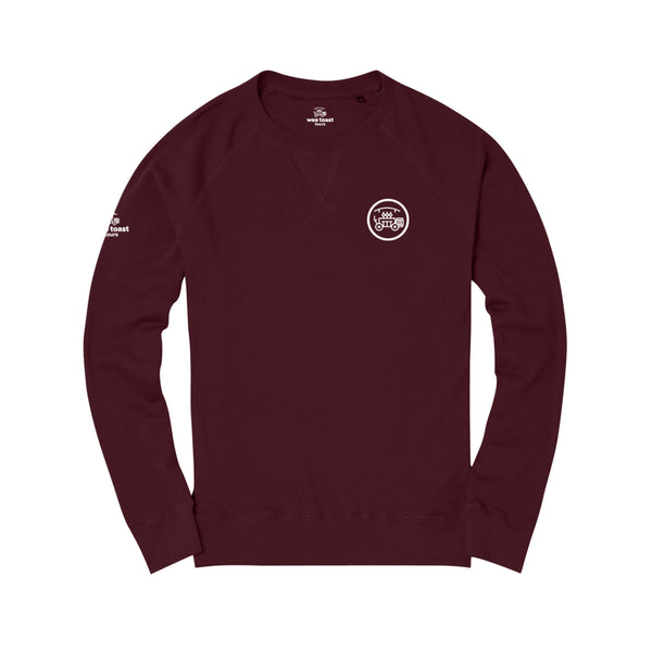 Organic Long Sleeve Top in Burgundy - Wee Toast Bike