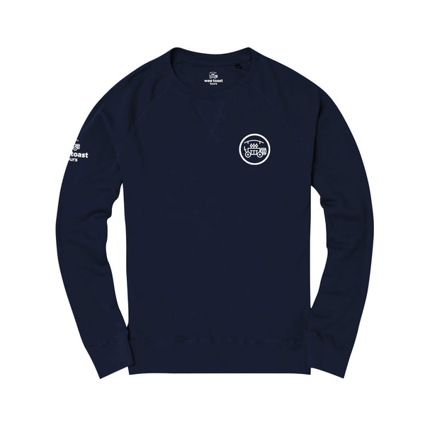 Organic Long Sleeve Top in Navy - Wee Toast Bike