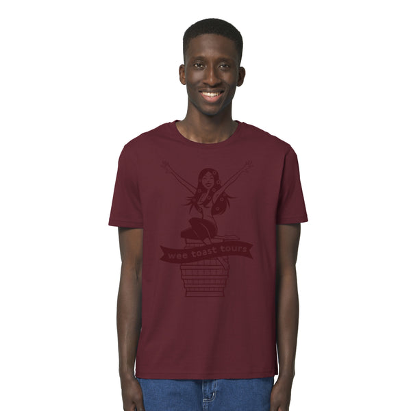 Super Soft Organic Limited Edition Tee in Burgundy - Wee Toast Lana Design