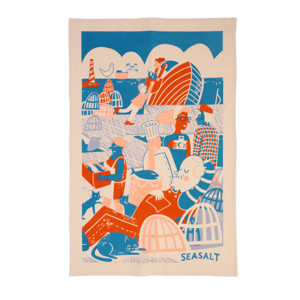 Quayside Fishing Tea Towel by Seasalt Cornwall for Ulster Weavers