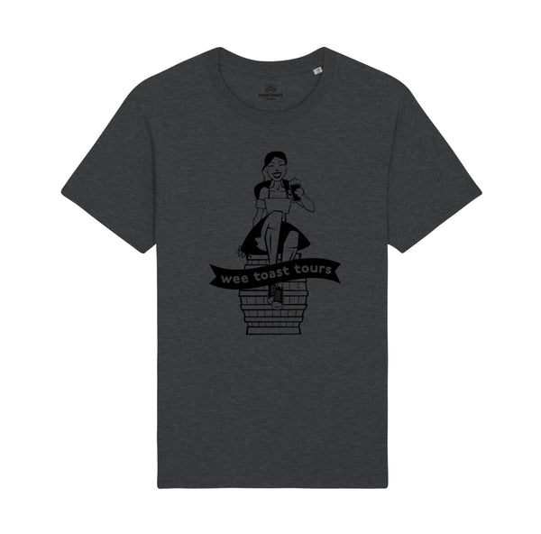 Super Soft Organic Tee in Dark Heather Grey - Wee Toast Belle Design