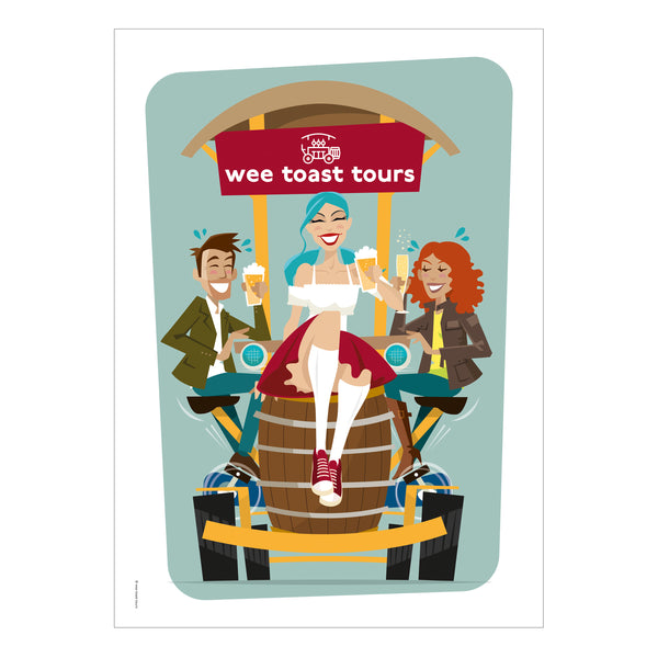 Belle Art Print by Wee Toast Tours