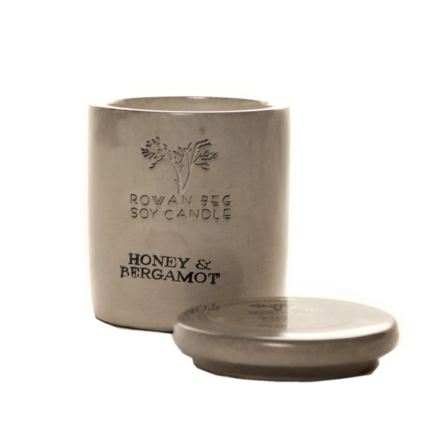 Rowan Beg Soy Candle - Honey and Bergamot