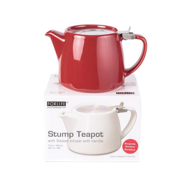 Suki Classic Stump Teapot in Bordeaux Colour