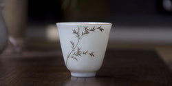 The Silver Bamboo | Handmade Porcelain Tea Cup